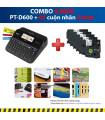 Combo: PT-D600 + 5 Cuộn nhãn 24mm (siêu dính) | Máy in nhãn Brother | khuetu.vn