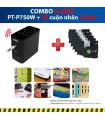 Combo: PT-P750W + 5 Cuộn nhãn 18mm (siêu dính) | Máy in nhãn Brother | khuetu.vn