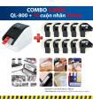 Combo: QL-800 + 10 Cuộn nhãn 29mm | Máy in nhãn Brother | khuetu.vn