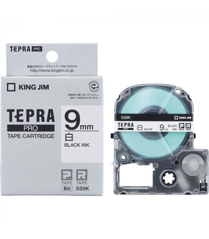Băng nhãn in Tepra SS9K (Chữ đen nền trắng, khổ 9mm) | Băng nhãn Tepra khổ 9mm | khuetu.vn