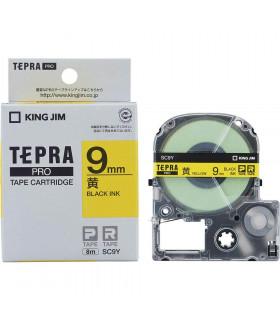Tepra SC9Y (Chữ đen nền vàng, khổ 9mm)