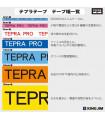 Băng nhãn in Tepra SC9B (Chữ đen nền xanh dương, khổ 9mm) | Băng nhãn Tepra khổ 9mm | khuetu.vn