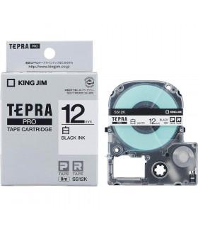 Tepra SS12K (Chữ đen nền trắng, khổ 12mm)