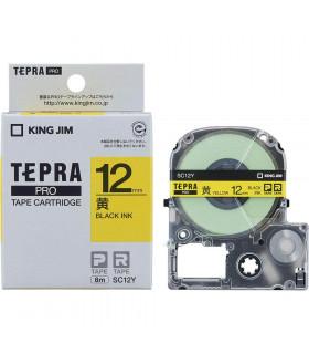 Tepra SC12Y (Chữ đen nền vàng, khổ 12mm)