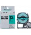 Băng nhãn in Tepra SC12G (Chữ đen nền xanh lá, khổ 12mm) | Băng nhãn Tepra khổ 12mm | khuetu.vn
