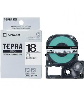 Tepra SS18K (Chữ đen nền trắng, khổ 18mm)