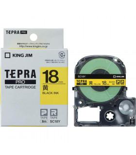 Tepra SC18Y (Chữ đen nền vàng, khổ 18mm)