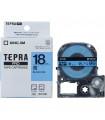 Băng nhãn in Tepra SC18B (Chữ đen nền xanh dương, khổ 18mm) | Băng nhãn Tepra khổ 18mm | khuetu.vn