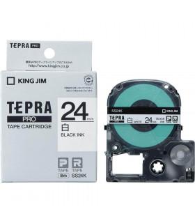 Tepra SS24K (Chữ đen nền trắng, khổ 24mm)