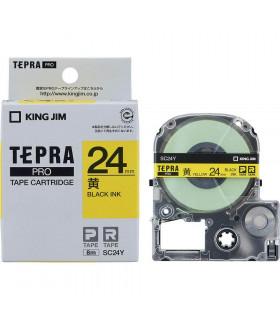 Tepra SC24Y (Chữ đen nền vàng, khổ 24mm)