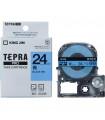 Băng nhãn in Tepra SC24B (Chữ đen nền xanh dương, khổ 24mm) | Băng nhãn Tepra khổ 24mm | khuetu.vn