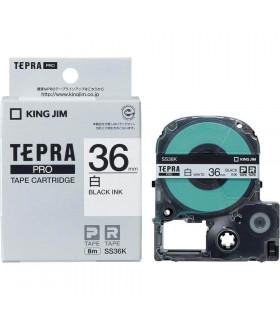 Tepra SS36K (Chữ đen nền trắng, khổ 36mm)