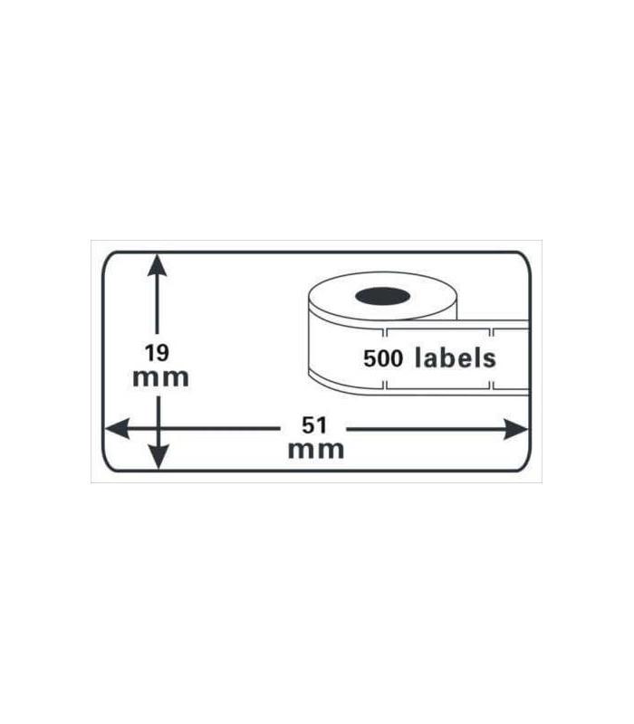Băng nhãn in DM-A11355, Black on White, 19mm x 51mm x 500 lables | Nhãn giấy máy LabelWriter | khuetu.vn