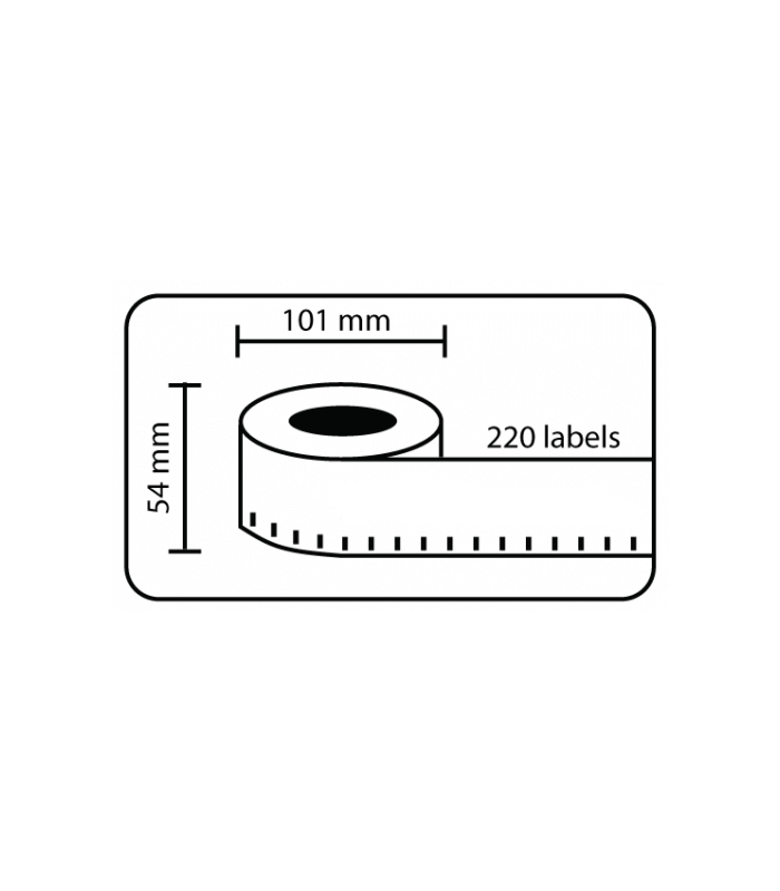Băng nhãn in DM-A99014, Black on WHite, 101mm x 54mm x 220 Labels | Nhãn Cho Máy Dymo | khuetu.vn