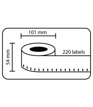 DM-A99014, Black on WHite, 101mm x 54mm x 220 Labels