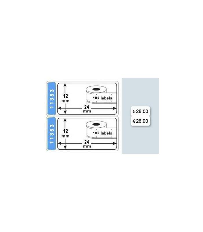 Băng nhãn in DM-A11353, Black on White, 24mm x 13mm x 1000 Labels | Nhãn giấy máy LabelWriter | khuetu.vn