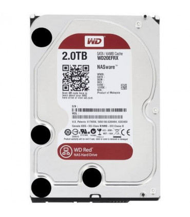 WD RED 2TB 3.5 Inch SATA HDD 5400rpm 64MB Cache (WD20EFRX)
