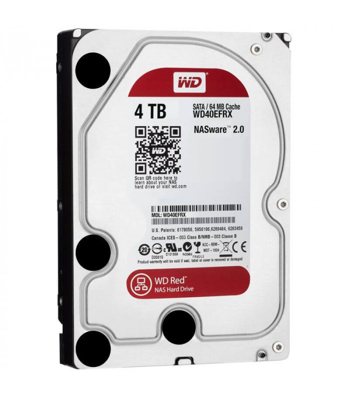 Ổ cứng chuyên dụng WD RED 4TB 3.5 Inch SATA HDD 5400rpm 64MB Cache (WD40EFRX) | WD RED | WESTERN DIGITAL | khuetu.vn