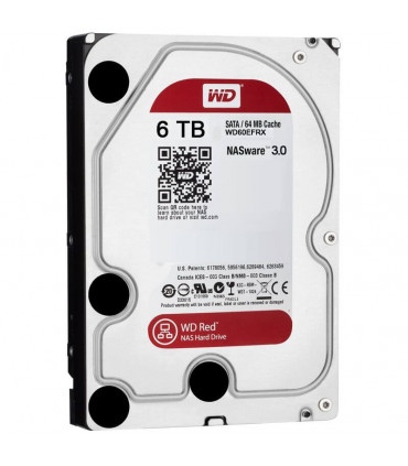 WD RED 6TB 3.5 Inch SATA HDD 5400rpm 64MB Cache (WD60EFRX)