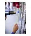 Băng nhãn in Ống co nhiệt HZSe-221, khổ 9mm x 1,5m, cáp 2.6-5.1mm, màu trắng | Ống co nhiệt HZSe cho máy Brother | khuetu.vn