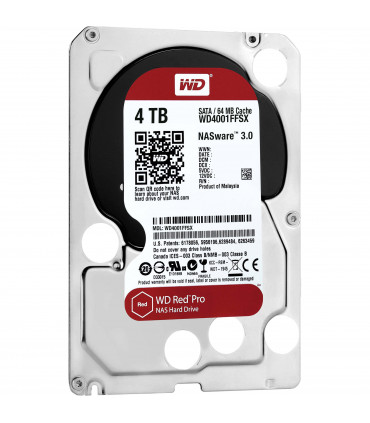 WD RED PRO 4TB 3.5 Inch SATA HDD 7200rpm 128MB Cache (WD4002FFWX)
