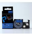 Băng nhãn in PT-6ABU (White on Blue, 6mm) | Khổ 6mm tương thích nhãn Casio XR | khuetu.vn