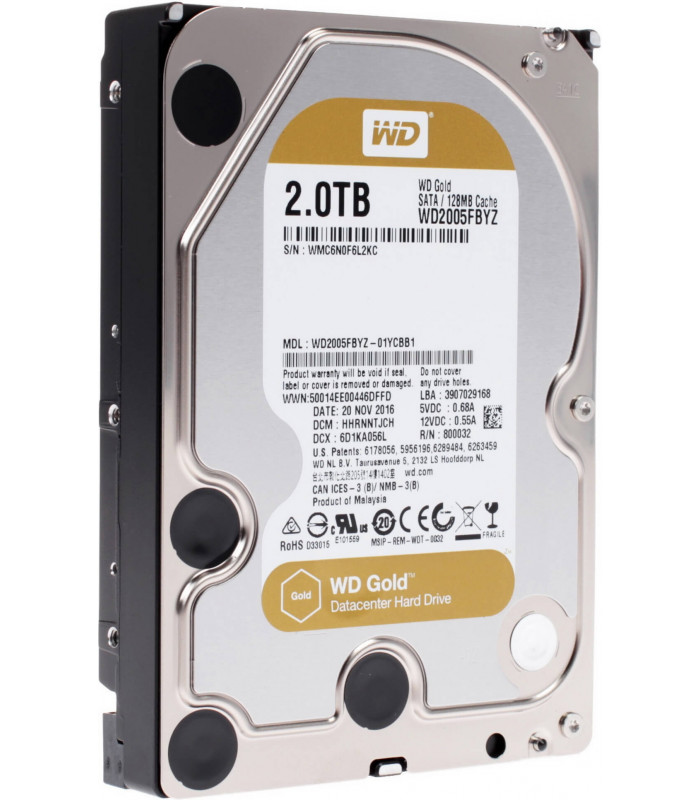 Ổ cứng chuyên dụng WD RED GOLD ENTERPRISE 2TB 3.5 Inch SATA HDD 7200rpm 128MB Cache (WD2005FBYZ) | WD GOLD ENTERPRISE | WES...
