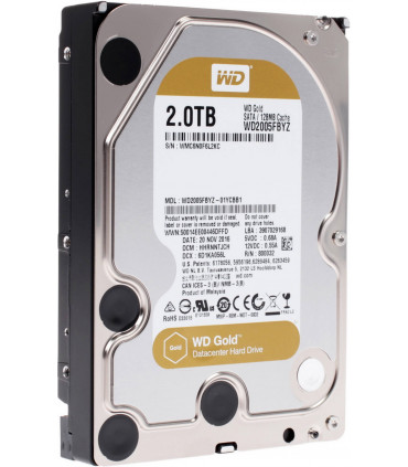 WD RED GOLD ENTERPRISE 2TB 3.5 Inch SATA HDD 7200rpm 128MB Cache (WD2005FBYZ)