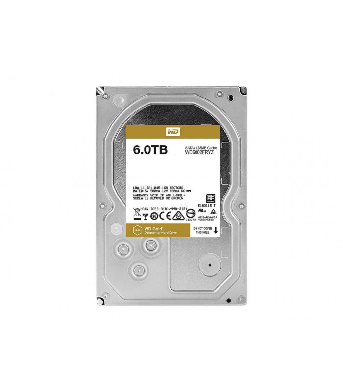 Ổ cứng chuyên dụng WD RED GOLD ENTERPRISE 6TB 3.5 Inch SATA HDD 7200rpm 128MB Cache (WD6002FRYZ) | WD GOLD ENTERPRISE | WES...