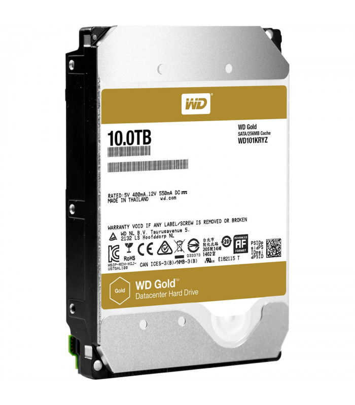Ổ cứng chuyên dụng WD RED GOLD ENTERPRISE 10TB 3.5 Inch SATA HDD 7200rpm 256MB Cache (WD101KRYZ) | WD GOLD ENTERPRISE | WES...