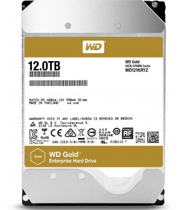 WD RED GOLD ENTERPRISE 12TB 3.5 Inch SATA HDD 7200rpm 256MB Cache (WD121KRYZ)