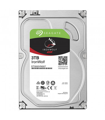 SEAGATE IRONWOLF 3TB 3.5 Inch SATA HDD 5900rpm 64MB Cache (ST3000VN007)