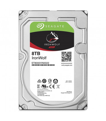 SEAGATE IRONWOLF 8TB 3.5 Inch SATA HDD 7200rpm 256MB Cache (ST8000VN0022)