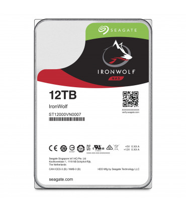 SEAGATE IRONWOLF 12TB 3.5 Inch SATA HDD 7200rpm 256MB Cache (ST12000VN0007)