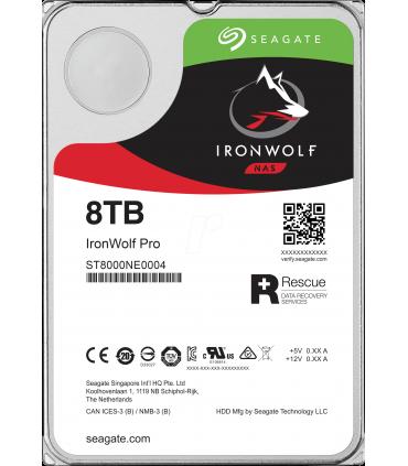 SEAGATE IRONWOLF PRO 8TB 3.5 Inch SATA HDD 7200rpm 256MB Cache (ST8000NE0004)