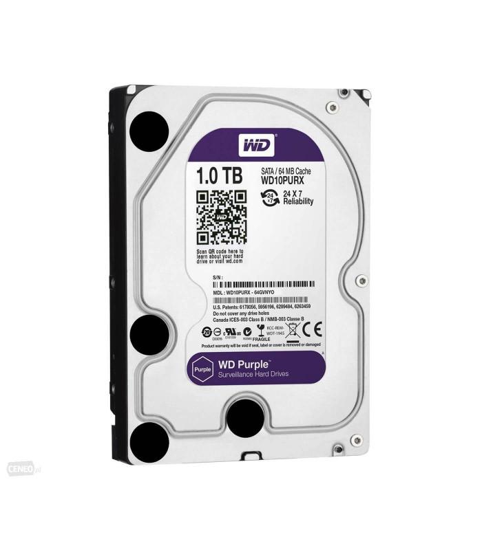 Ổ cứng chuyên dụng WD PURPLE 1TB 3.5 Inch SATA HDD 5400rpm 64MB Cache (WD10PURZ) | HDD cho NVR | WESTERN DIGITAL | khuetu.vn