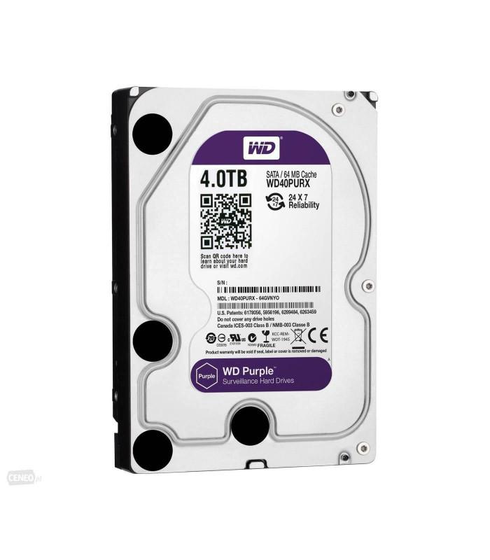 Ổ cứng chuyên dụng WD PURPLE 4TB 3.5 Inch SATA HDD 5400rpm 64MB Cache (WD40PURZ) | HDD cho NVR | WESTERN DIGITAL | khuetu.vn