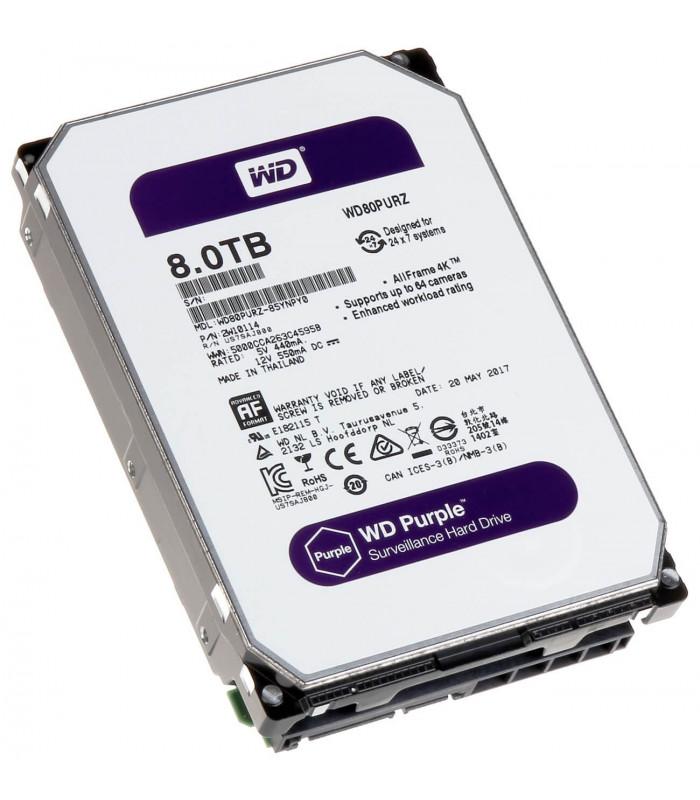 Ổ cứng chuyên dụng WD PURPLE 8TB 3.5 Inch SATA HDD 5400rpm 128MB Cache (WD80PURZ) | HDD cho NVR | WESTERN DIGITAL | khuetu.vn