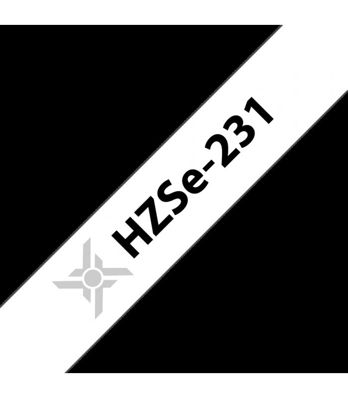 Băng nhãn in Ống co nhiệt HZSe-231, khổ 12mm x 1,5m, cáp 3.6-7.0mm, màu trắng | Ống co nhiệt HZSe cho máy Brother | khuetu.vn