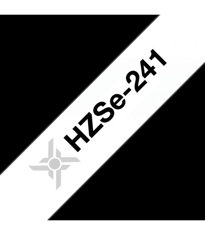 Băng nhãn in Ống co nhiệt HZSe-241, khổ 18mm x 1,5m, cáp 5.4-10.6mm, màu trắng | Ống co nhiệt HZSe cho máy Brother | khuetu.vn