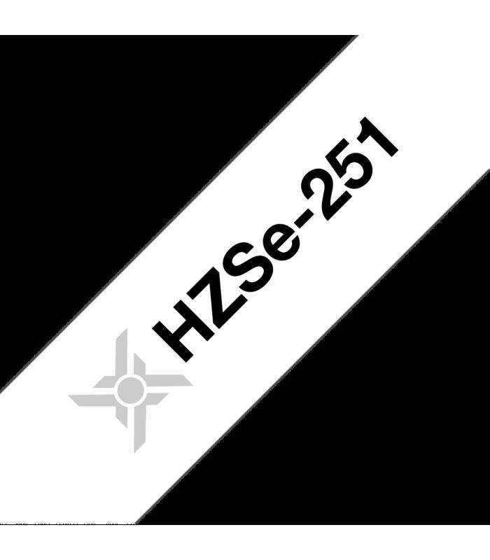 Băng nhãn in Ống co nhiệt HZSe-251, khổ 24mm x 1,5m, cáp 7.3-14.3mm, màu trắng | Ống co nhiệt HZSe cho máy Brother | khuetu.vn