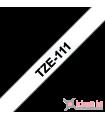 Băng nhãn in Brother TZe-111, khổ 6mm, dài 8m, Black on Clear, chống thấm nước | Nhãn TZe tiêu chuẩn | khuetu.vn