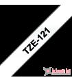 Băng nhãn in Brother TZe-121, khổ 9mm, dài 8m, Black on Clear, chống thấm nước | Nhãn TZe tiêu chuẩn | khuetu.vn
