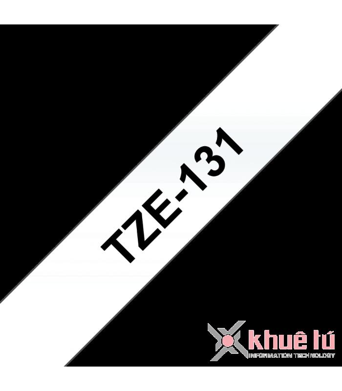 Băng nhãn in Brother TZe-131, khổ 12mm, dài 8m, Black on Clear, chống thấm nước | Nhãn TZe tiêu chuẩn | khuetu.vn