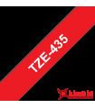 Băng nhãn in Brother TZe-435, khổ 12mm, dài 8m, White on Red, chống thấm nước | Nhãn TZe tiêu chuẩn | khuetu.vn