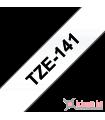 Băng nhãn in Brother TZe-141, khổ 18mm, dài 8m, Black on Clear, chống thấm nước | Nhãn TZe tiêu chuẩn | khuetu.vn
