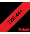 Băng nhãn in Brother TZe-441, khổ 18mm, dài 8m, Black on Red, chống thấm nước | Nhãn TZe tiêu chuẩn | khuetu.vn