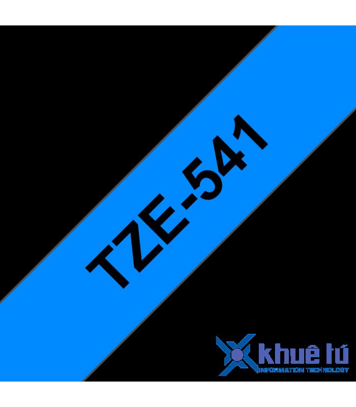 Băng nhãn in Brother TZe-541, khổ 18mm, dài 8m, Black on Blue, chống thấm nước | Nhãn TZe tiêu chuẩn | khuetu.vn