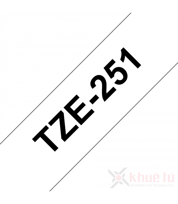 Băng nhãn in Brother TZe-251, khổ 24mm, dài 8m, Black on White, chống thấm nước | Nhãn TZe tiêu chuẩn | khuetu.vn