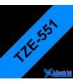 Băng nhãn in Brother TZe-551, khổ 24mm, dài 8m, Black on Blue chống thấm nước | Nhãn TZe tiêu chuẩn | khuetu.vn